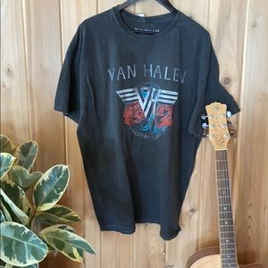 Van Halen roses t-shirt dress 🌹